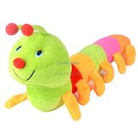 New Colorful Inchworm Soft Lovely Developmental Baby Toy Caterpillars Bug Doll Plush Toys for Children b8 SV001402