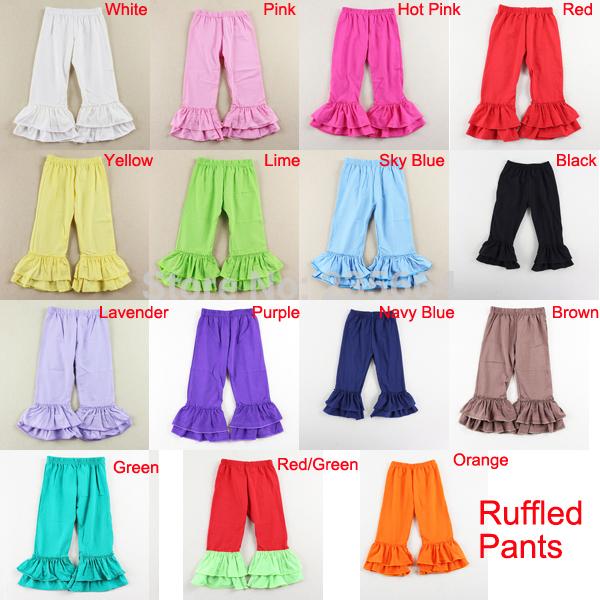 Bambino solido 100% pantaloni di cotone dei bambini pantaloni bimba volant mutanda 12 colori 1-7 anni
