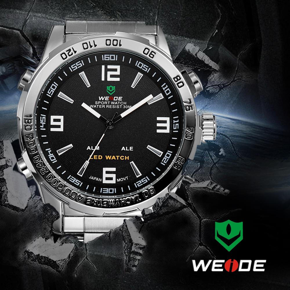 Weide led-hintergrundbeleuchtung multi- funktionale quarz ganzstahl Luxusmarke lässigen militärischen sportuhren 3 atm wasserdicht