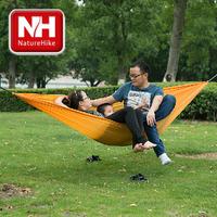 NatureHike hammock 2 people 200KG outdoor ultralight cloth use in tourismfurniture garden swing 270x150cm orange and green