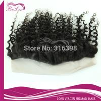 Virgin Peruvian Hair Lace Frontal 13x4 Bleached Knots Deep Curly Virgin Peruvian Lace Frontals with Baby Hair Cheap Price