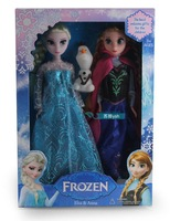 New style frozen doll 2 PCS/lot of high quality elsa and Anna frozen princess dolls gifts for girls,free shipping!