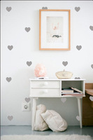 gold color available!!  little Hearts Wall Sticker, Removable home decoration art Wall Decals Free Shipping