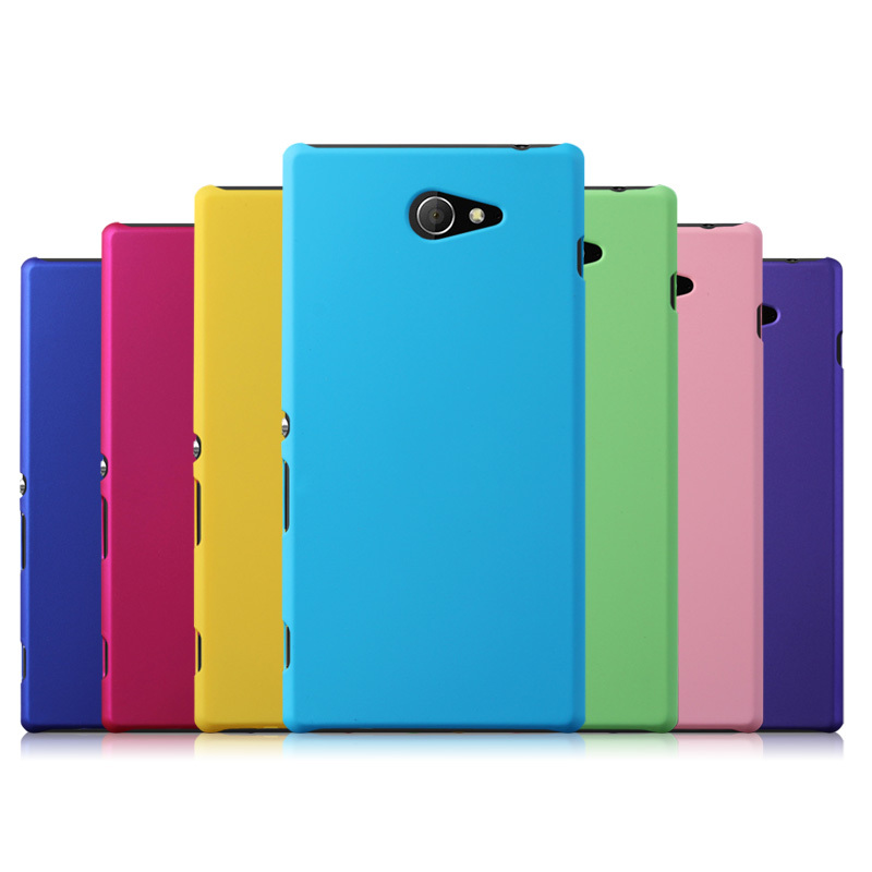 Free Shipping! Colorful Oil-coated Rubber Matte Hard Back Case for Sony Xperia M2 S50h M2 Dual D2302 Matte Back Cover, SON-079(China (Mainland))