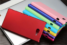 Free Shipping Colorful Oil coated Rubber Matte Hard Back Case for Sony Xperia M2 S50h M2
