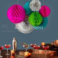 Free Shipping 10pcs 15cm(6inches) Honeycomb Lantern Paper Flower Balls Hanging Decoration,  Wedding ,Party, Festival Decoration