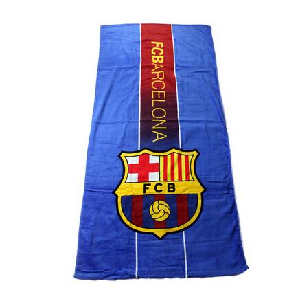 New in Spain Printed FCB football fans souvenir football team badge towels bathroom(China (Mainland))