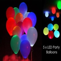 1000pcs/lot Free shipping Led light up balloons, luminous Latex LED balloons,LED for Wedding and Party Decoration