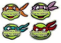 Ninja Turtles Embroidered Iron On Patch of Sticker, Cartoon Animal Hero Movie Fabric Patch, Children's DIY Cloth Accessories