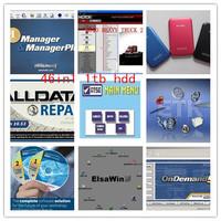 Newest alldata 2014 auto repair software 10.53+Mitchell on demand 2014+vivid workshop+mitchell manager +esi 28in1 in 1tb hdd