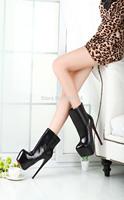 Best selling spring/Autumn sexy brand 19cm thin ultra high heels martin boots red bottom platform women's pumps Big size:41-46