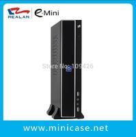 Realan Thin Mini ITX  Micro ATX  Case  T01 B  Desktop Computers with Power Supply