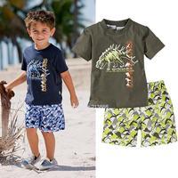 2014 New children clothing set casual boy's beach set t-shirt+shorts 2 pcs summer baby kid sets Drop/Freeshipping #2 SV0038