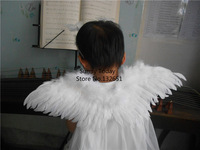Hot Handmade White Feather Angel's Wings For Child Photography & Performance Props Party Decoration 45* 15 CM Can Be Customized