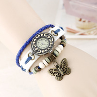 2015 Hot Recommend Retro Style Butterfly Pendants Watches Fashion Women Clothing Waterproof Quartz Watch