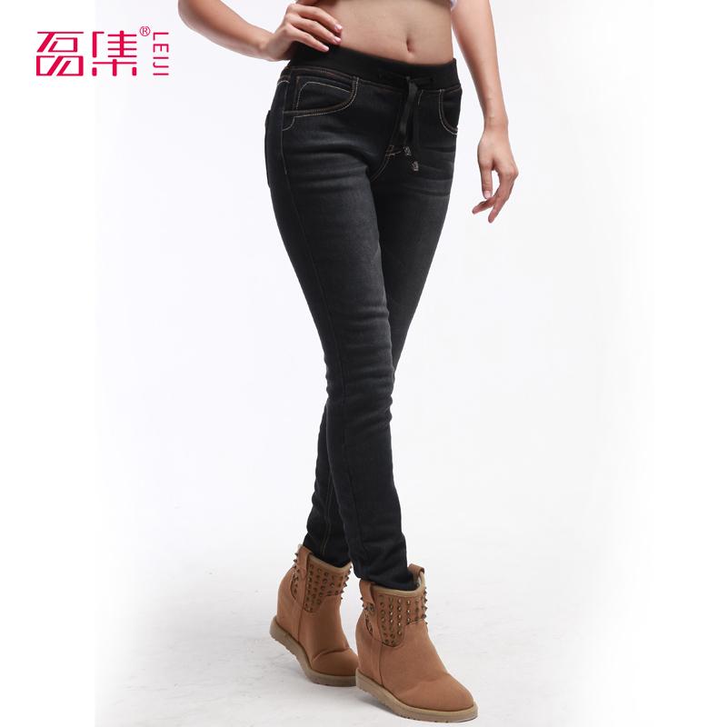 2014 plus Mikro fleece bleistift hose plus size 4XL 5XL 6xl skinny jeans hose bootcuts weiblichen hosen