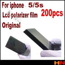 200pcs wholesale 5 5G 5S 5c original  LCD Polarizer Film Polarization Polaroid Polarized Light Film for Apple iPhone 5 5G 5S 5c(China (Mainland))