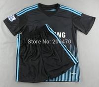 14 15 New Chelsea away black football jersey #8 LAMPARD player's soccer uniform #9 TORRES sportswear #11 Oscar sports jersey kit