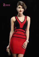 brand hl bandage dress celebrity dresses Black Red Heart Neck Body-hugging Party Night Bandage Dress