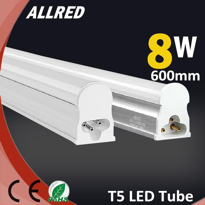 TOP Led Tube Lights 600mm T5 8W Tubes Led 60cm Protective Package Super Brightness Tube Lamp Fluorescent Tubes AC165~265V 4000K(China (Mainland))