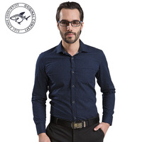 2014 Fashion Wave point shirt 100% Cotton brand dress shirts Slim Fit Casual Long Sleeve button down High Quality Free Shipping