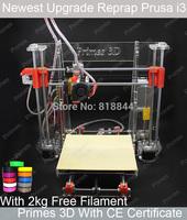 2014 Aurora New Reprap Prusa I3 3D Printer 3 D Model Print DIY KIT High Accuracy Acrylic Frame 2 kg Filaments as Gift Z605