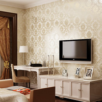 European style floral wallpaper for walls, Living room bedroom mural wallpapers TV background PVC wall paper roll