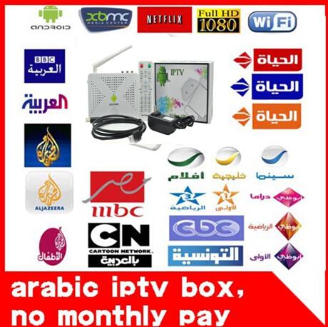 Free DHL (+IR Remote Control) Arabic IPTV Box,500 2 Years Free Arabic Channel TV Box, Android 4.0 WiFi HDMI Smart Mini PC TV Box(China (Mainland))