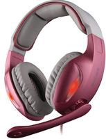 Sades SA-902 Pink Headset Computer Earphones Belt 7.1 Audio Encoding Speech Headband Game earphones with Noise Cancelling