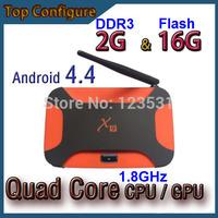 Android TV Box/ Top configure/ Quad-Core CPU 1.8GHz// Quad-Core GPU/ 2G DDR3 16G Flash/ Android 4.4/ Smart TV HDMI/ XMBC 2014