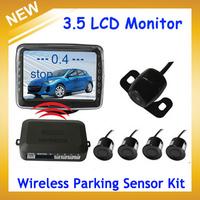 Wireless 3.5inch digital TFT LCD screen with Parking Sensor+ Multi-Color 4 Sensor +1 Pcs Rear View Camera,Free Shipping