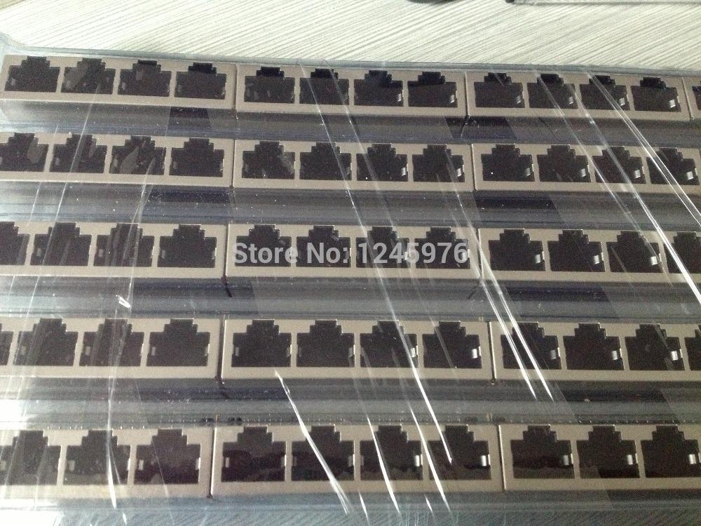 Free Shopping 10 PCS PCB Jack Connector RJ45 Modular jack Network 90 degrees in 8P8C 1x4 PORTS PCB socket/ LAN Connector(China (Mainland))