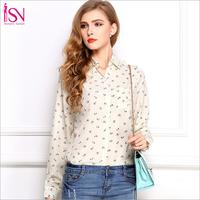 SZ005 2014 Fashion Women's Anchor Print Chiffon Turn-down Collar Shirt Lapel Loose Blouse&Shirt Blusas Femininas S-XL S&Z