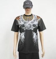 Summer Fashion Men`s Legend Panther tshirt  Zipper T shirt  Star Number Argyle t shirt Men