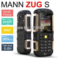 Original MANN ZUG S IP67 Waterproof Mobile Phone Dustproof Shockproof Rugged Outdoor Cell Phones Camera Bluetooth Cheap Phone