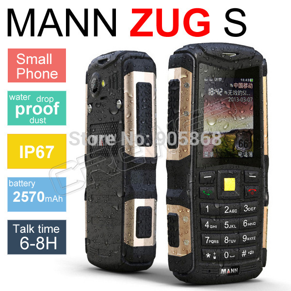 Original MANN ZUG S IP67 Waterproof Mobile Phone Dustproof Shockproof Rugged Outdoor Cell Phones Camera Bluetooth Cheap Phone(China (Mainland))