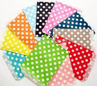 New Arrival! 13x18cm 200Pcs Polka Dot Treat Bags Food Safe Candy Favor Bag Paper Popcorn Bags