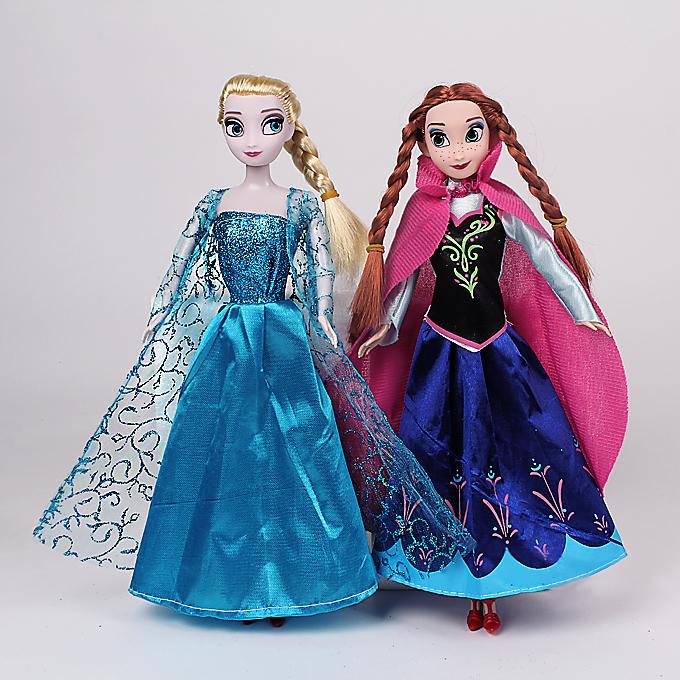 Retail popular princesses doll 2015 new cute Anna Elsa mini baby doll action figures dolls toys 2pcs set classic toys(China (Mainland))