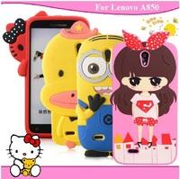 For Lenovo A850 case mobile phone case cell for lenovo A850 phone case protective case silica gel set