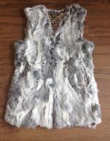 Free shipping New Sprint Female Real Rabbit fur vest Women Genuine Natural Rex Rabbit Fur Coat Spring V Neck FP225