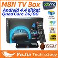 Original M8N TV Box Amlogic 8726 MX Quad Core Android4 4 2G RAM 8G ROM 2