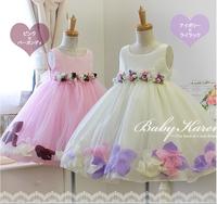 High quality,Flower girl dresses Children dresses Kids wedding party dress baby girls' dresses white size 2-9 years