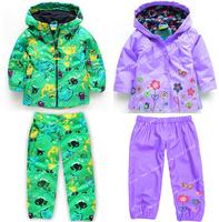 Retail 2014 new children suit (hoodie+pants),children's hoodies,children's jacket,girl suits,children raincoat, coats & jackets