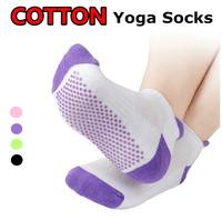 Cotton With Non-Slip Sport Yoga Socks Pilates For Women Ladies Anti-Pilling Anti-Skidding Anti-Microbico Breathable Eco-Friendly