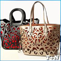 New 2014 Fashion Mango Women Leather Handbags Party Bolsas Femininas Franja Hollow Package Ladies Tassel Fringe Bag