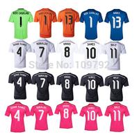 Player Version Real Madrid soccer jersey 2014/15 Real Madrid white pink black Ronaldo bale Benzema JAMES jersey Football shirts