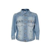 Free shipping Hot-selling 2014 women's casual denim JACKET plus size ladies' jean jacket Europe size 34,36,38,40,42,44,46