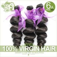 Peruvian loose wave 3/4pcs lot 6A Unprocessed human hair weave Peruvian virgin hair extension loose wave natural hair extensions