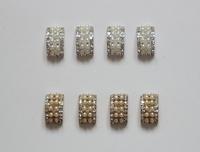Free Shipping Wholesale 40pcs/lot 10*18mm Flatback Rhinestone Button For Hair Flower Wedding Invitation BHP14017