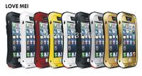 Outdoor Sports Partner Love Mei Dust-proof Waterproof Shockproof Gorilla Glass Metal Phone Protection Case For iPhone 5C